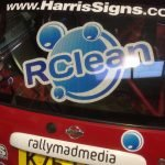 Back screen of micra rally car